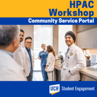 HPAC Workshop: Learn to use the Community Service Portal