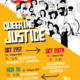"""(image description: Flyer is yellow on the bottom half, with black and white cartoon/doodle people holding up pride and trans pride flags and signs on the other half. All of the doodle people look different. In large, cartoon lettering the flyer reads, """"Queering Justice Oct 21st 12-1:30 Topic 1: Queering Disability Justice Oct 28th 12-1:30pm Topic 2: Queering Reproductive Justice Nov 18 12-1:30pm Topic Queering Student Justice. RSVP tinyurl.com/QueeringJustice2020. TU Center for Student Diversity logo in bottom right corner.)--"""