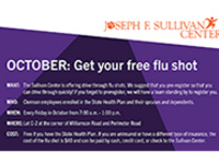 Free flu shots for faculty and staff