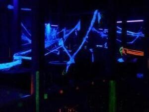 Blacklight laser tag