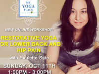 Restorative Yoga for Lower Back & Hip Pain with Paulette Sato