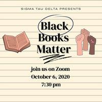 "Sigma Tau Delta: Banned Books Reading on ""Black Books Matter"""