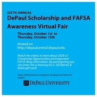 DePaul Scholarship and FAFSA Awareness Virtual Fair