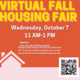 Virtual Fall Housing Fair