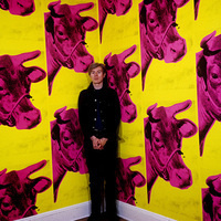 Andy Warhol with Cow Wallpaper (Photo by Steve Schapiro/Corbis via Getty Images)