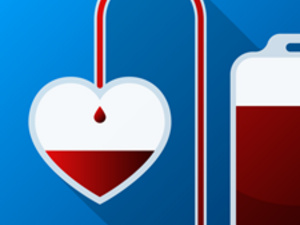 icon representing blood donation