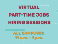 Virtual Part-Time Jobs Hiring Sessions - ALL CAMPUSES