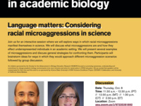 Language matters: Considering racial microaggressions in science