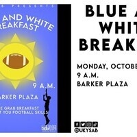 Blue and White Breakfast