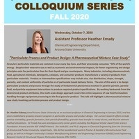 Fall Seminar Series - Dr. Heather Emady   Chemical and Biomolecular Engineering