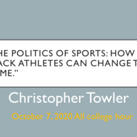 """""""The Politics of Sports: How Black Athletes Can Change the Game."""""""