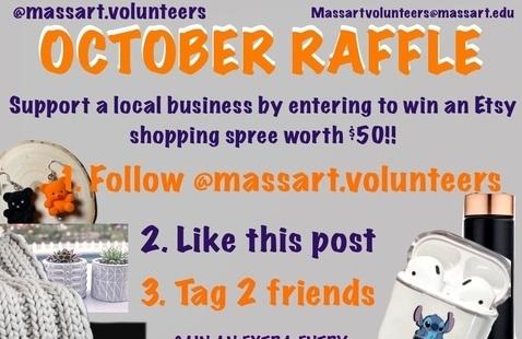 MassArt Volunteers Fall Raffle