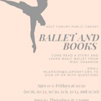 Virtual Books & Ballet (Ages 0-5)