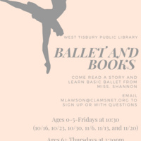 Virtual Ballet & Books (Ages 6+)