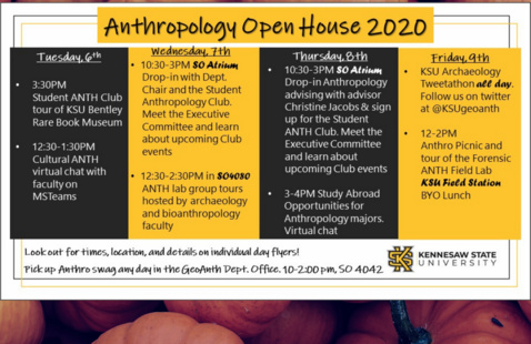 Anthropology Lab group tours hosted by archaeology and biological anthropology faculty
