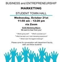 Business and Entrepreneurship Marketing Student Town Hall