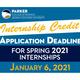Internship Credit Application Deadline