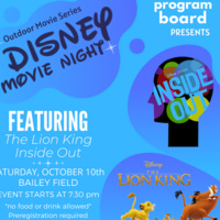 Outdoor Disney Movie Night Featuring ''The Lion King'' and ''Inside Out''