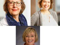 Speakers Carla Falkson, MD, Carol Lustig, NP and Avice O'Connell, MD