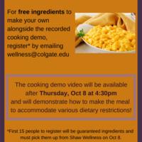 Cooking Demo: Macaroni & Cheese