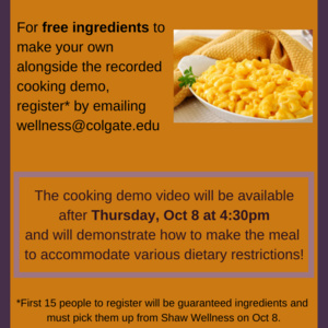 Cooking Demo: Macaroni & Cheese