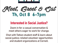 Social Justice Meet, Greet and Eat for First Years and Transfers
