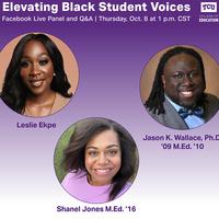 Panelists Leslie Ekpe, Jason K. Wallace and Shanel Jones