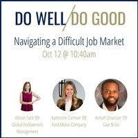 Do Well, Do Good Meetup: Navigating a Difficult Job Market