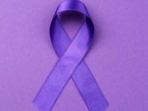 Purple domesitc violence awareness ribbon