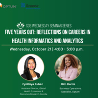 October Wednesday Seminar: Five Years Out Reflections on Careers in Health Informatics and Analytics