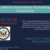 Foreign Affairs Information Technology (FAIT) Fellowship Info Session