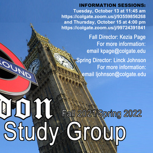 2021-2022 London English Study Groups Poster
