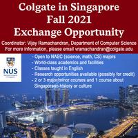 Fall 2021 Singapore Exchange Program Poster