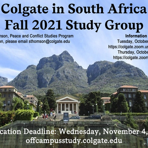 Fall 2021 South Africa Study Group Poster