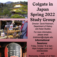Spring 2022 Japan Study Group Poster