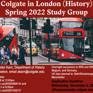 Spring 2022 London History Study Group Poster