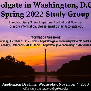 Spring 2022 Washington DC Study Group Poster