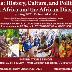Spring 2021 Ghana Extended Study Poster