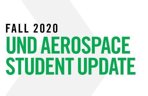 Fall 2020 UND Aerospace Student Update