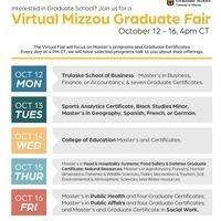 Flyer Mizzou Graduate Fair