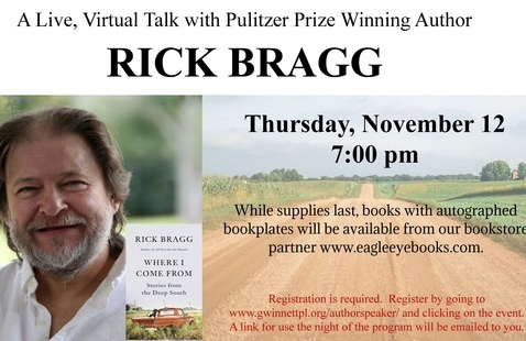 A Live Virtual Talk with Pulitzer Prize Winning Author Rick Bragg