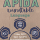 APIDA Roundtable: Language