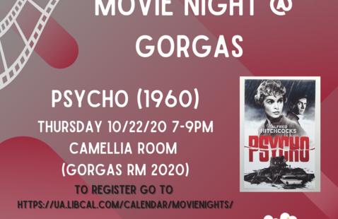 University Libraries Movie Night: Psycho