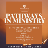 Pathways in Ministry : Chaplaincy