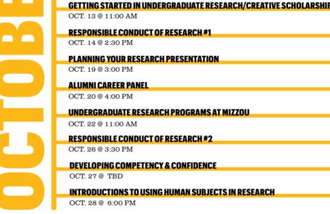 Undergraduate Research Programs at Mizzou