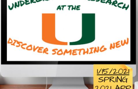 Deadline: Spring 2021 Undergrad Research