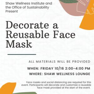 Decorate a Reusable Face Mask