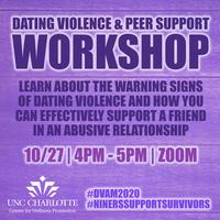 Workshop: Dating Violence and Peer Support