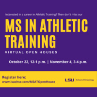 MS in Athletic Training Virtual Open House