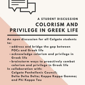 Colorism and Privilege in Greek Life: A Student Discussion